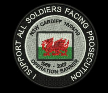 I Support all Soldiers Facing Prosecution Embroidered Badge